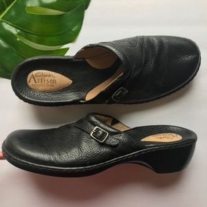 Clarks Leather Slip Ons, Clarks Shoes, Black Flats